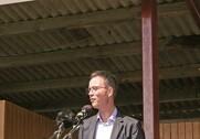 Esben Lunde Larsen åbnede Landsskuet fra talerstolen. Foto: Mads Blenker.