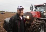 Kristian Refnov fra Case IH glæder sig til at vise de danske landmænd den nye firecylindre Maxxum-serie i løbet af de næste to uger. Fotos: Morten Damsgaard.