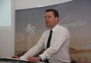 Administrerende direktør for DLG, Kristian Hundebøll, forklarer at omkostningsstyring er forklaringen på et godt dansk resultat. Foto: Rasmus Dalsgaard.