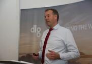 Niels Dengsø præsenterer rekordudbetaling til DLG's ejere. Foto: Rasmus Dalsgaard.