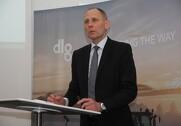 CFO Lars Sørensen, DLG, fortæller, at den resterende del af Kongskilde nu får fokus og skal gøres til en bæredygtig forretning, som derefter skal sælges. Foto: Rasmus Dalsgaard.