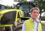 Tom Seyer er produktchef for traktorer hos Claas, og han fortæller, at integeret dæktryksregulering, som det danske marked efterspørger, ikke er aktuelt endnu på traktormarkedet. Foto: Morten Damsgaard.