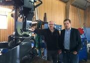 Ib Nørlem (tv) og Simon Flensted har slået sig sammen om at genoplive konkursramt fældehoved. Foto: Thomas Bech Hansen