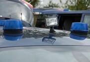 Politiet måtte rykke ud, da en lastbil med korn væltede. Foto: Colourbox.