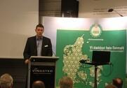Henning Sjørslev Lyngvig fortalte på DM&Es Årsmøde om det arbejde foreningen ligger i EU-sammenhænge. Foto: Morten Damsgaard.