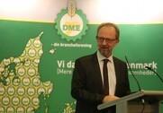Formanden for DM&E, Søren Ulrik Sørensen opfodrede på DM&Es årsmøde, at man passer godt på medarbejderne på landets maskinstationer. Foto: Morten Damsgaard.