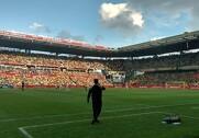 På det store Brøndby Stadion og tilhørende træningsbaner vil græsset fremover bestå af topsorter fra DSV Frø. Foto: Brøndby IF