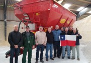 Billedet er fra besøg fra Chile ved Lindholm Maskinstation i november 2017. Foto: Bredal