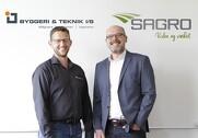 Direktør Torben Jensen SAGRO og direktør Flemming Hedegaard, Byggeri & Teknik IS. Pressefoto.
