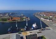 Grovvareselskabet BMG er i fuld gang med at eksportere de sidste skibslaster af maltbyg fra høst 2017. Pressefoto