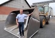 Virksomhedens maskiner kører mange timer årligt ? nu laver de forsøg med biodiesel i tanken. Pressefoto.