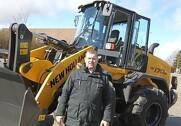 Martin Tornøe er salgschef for New Holland entreprenørmaskiner, og han er godt tilfreds med de danske New Holland forhandleres salg af de gule entreprenør-maskiner. Arkivfoto: Morten Damsgaard.